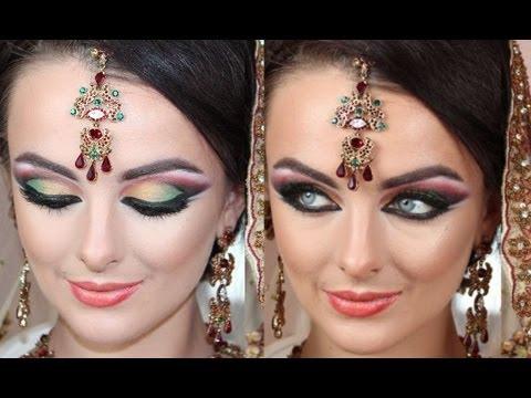 Bollywood Barbie Doll Makeup Tutorial Asian Bridal Makeup Arabic Twist – Real Dramatic