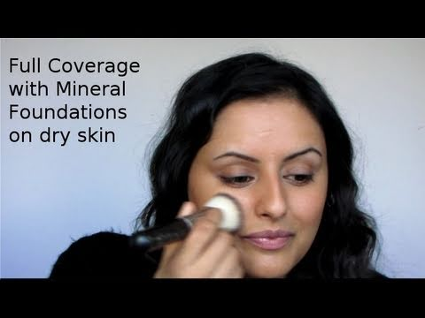 How to: Full coverage foundation using mineral make up for DRY/COMBINATION skin