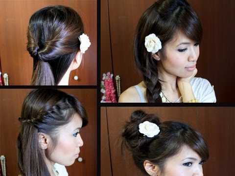 Easy Back-to-School Hairstyles for Long Medium Hair Tutorial