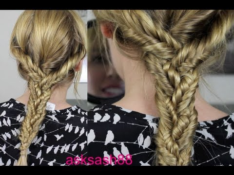 Triple Fishtail Braid – Easy Everyday hairstyles for Long Hair, School Hairstyles
