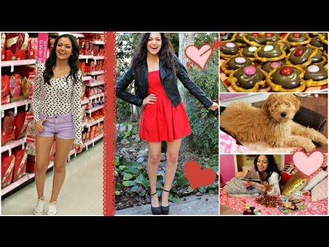 Valentine's Day Hair, Makeup & Outfit ideas! + Easy V-day treat!