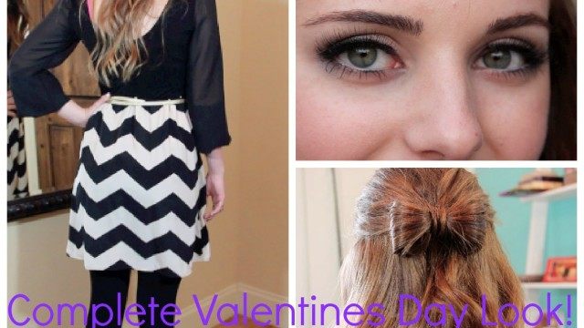 ❤Valentines Day: Hair, Makeup, Outfit! & Giveaway!