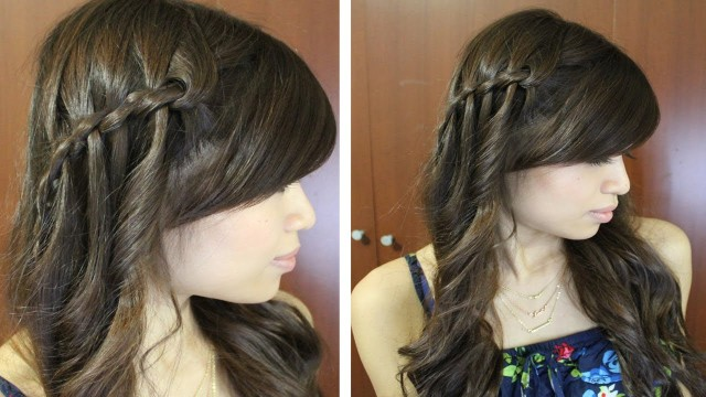 Waterfall Twist Braid Hairstyle for Medium Long Hair Tutorial