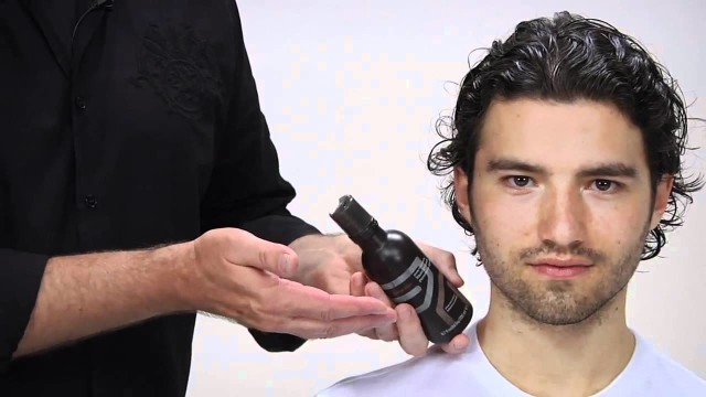 Aveda How To: Style Men's Long Curly Hair