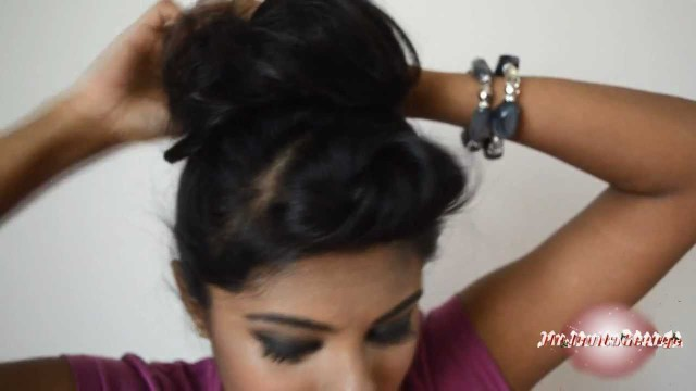 Top bun tutorial for short thin hair