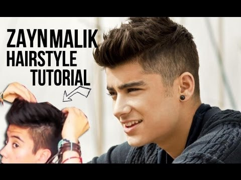 ZAYN MALIK (ONE DIRECTION) HAIRSTYLE TUTORIAL / MEN'S STYLE