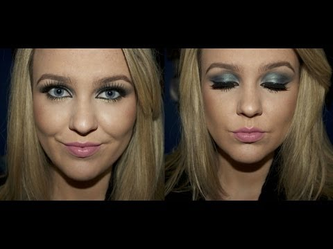 Recreate The Look- Navy & Gold Party Makeup Tutorial by Lauren Curtis.