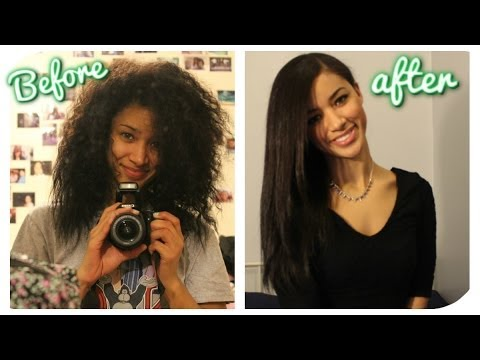 How I Straighten My Curly Hair: Tutorial, Products & Tips  | Jaydee Stone