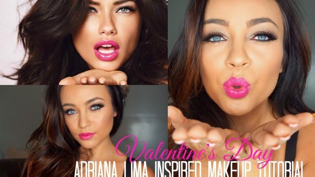 Adriana Lima Inspired Valentine's Day Makeup Tutorial ♡