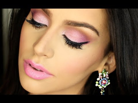 ALL PINK Valentine's Day Makeup Tutorial