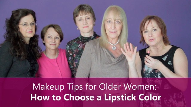 Makeup Tips for Older Women: How to Choose a Lipstick Color