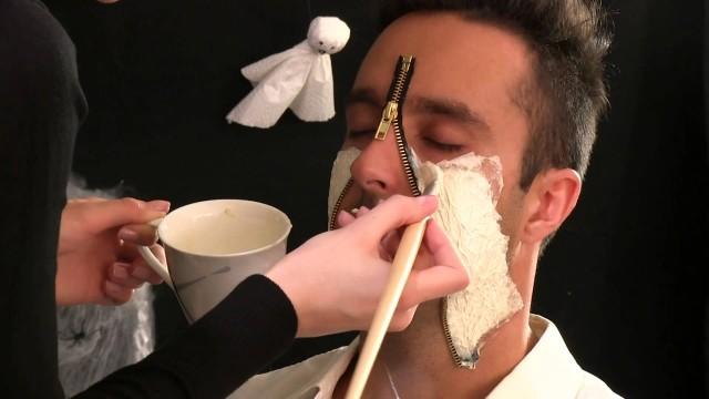 Halloween Make-up – Zipper Face hit schmuckladen.de