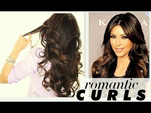 ★ KIM KARDASHIAN BIG CURLS TUTORIAL | CUTE LONG HAIRSTYLES | HOW TO BLOW-DRY + CURL YOUR HAIR