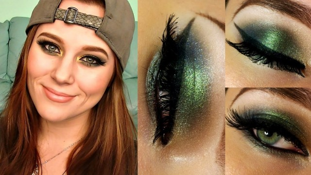Autumn Jewels – Green, Navy and Gold Makeup Tutorial