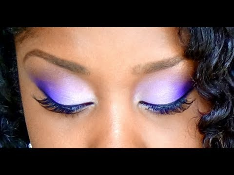 How To Easily Blend Eyeshadow Colors ( Purple Makeup Tutorial )