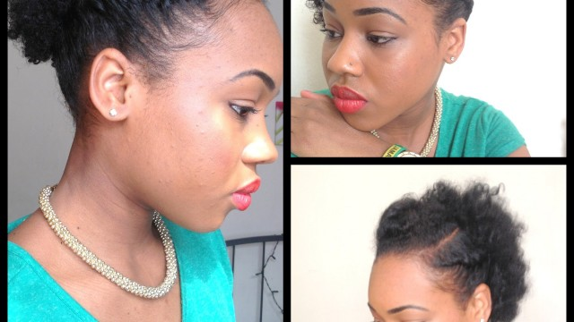 3 Quick Easy style for short Natural Hair ( wash and go 5th day  styles