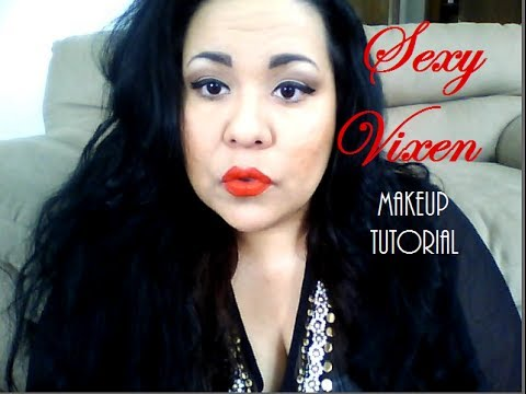 Sexy Vixen Makeup Tutorial (Red hot lips)