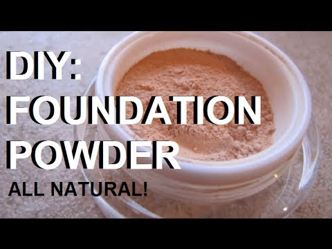 DIY Makeup – Make Your Own All Natural & Organic Cosmetic Foundation Powder (Simple Ingredients)