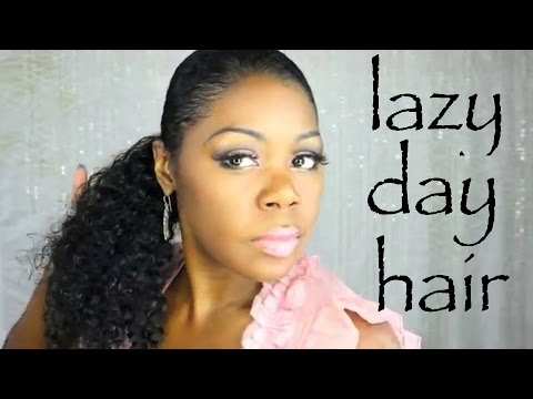 "My ""LAZY DAY hairstyles: Quick-Easy-Effordless-AIRDRIED"