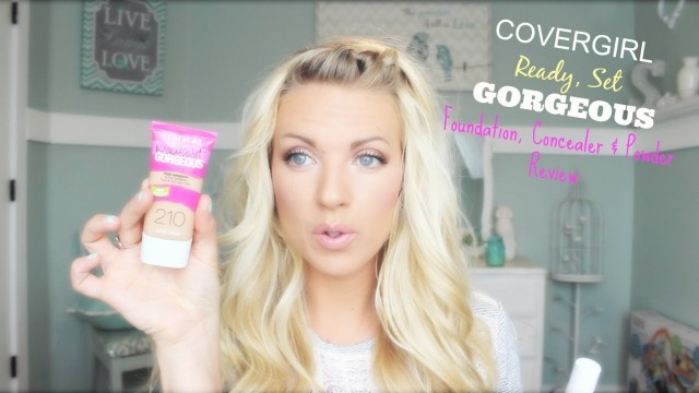 ❤ NEW Covergirl Ready Set Gorgeous Foundation, Concealer & Powder Review & Application ❤