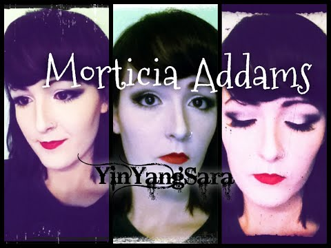 Wicked Wednesday! Morticia Addams inspired makeup tutorial with drugstore makeup