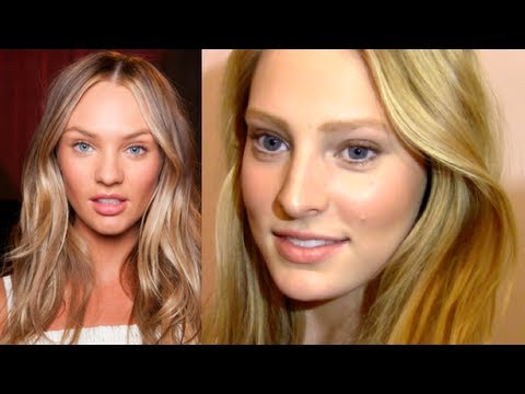 Candice Swanepoel Natural Makeup & Hair Tutorial