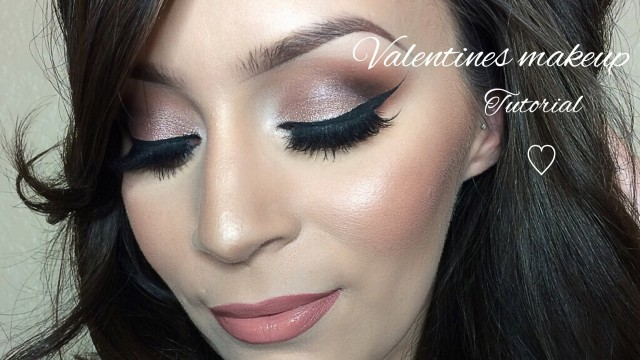 Valentines day l Rose makeup tutorial