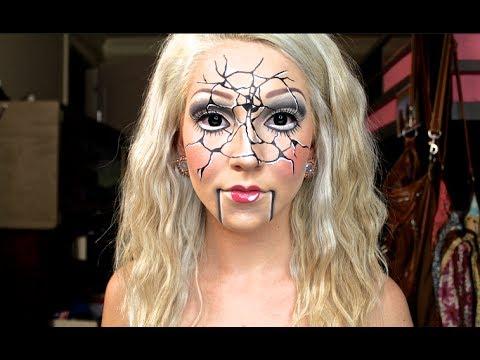 """Shattered Ventriloquist Doll"" Halloween Tutorial ♡"
