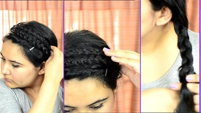 Easy & quick summer hairstyle for college or work {Delhi fashion blogger}
