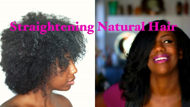 How to Straighten Natural Hair: The Wash, Blow Dry, Flat Iron, Haircut, & Style