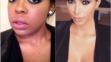 Kim kardashian inspired Navy smokey eye Makeup 2015