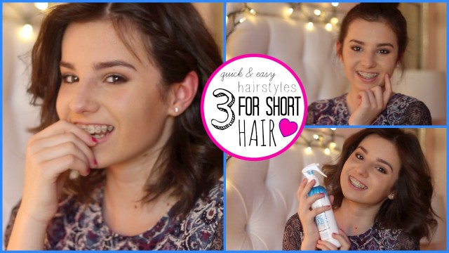 3 Quick and Easy Hairstyles for Short Hair | Beautybythebrit