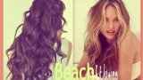 ★BEACH HAIR TUTORIAL | VICTORIA'S SECRET CURLY HAIRSTYLES – HOW TO CURL WAVES FOR MEDIUM LONG HAIR