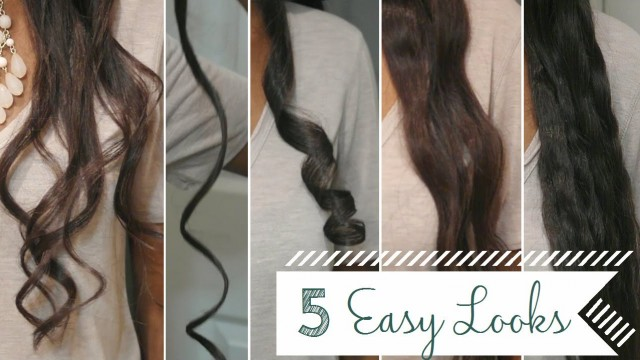 5 Easy Curls/Waves Using a Flat Iron + a Review!