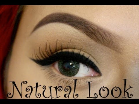 Natural Makeup Tutorial + How To Apply False Eyelashes | LoLo Love