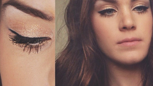Golden Cat Eye + Nude Corals Makeup Tutorial