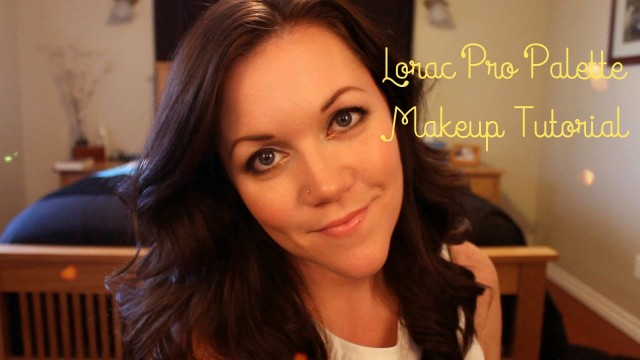 Lorac Pro Palette Makeup Tutorial: my 'Go To' with a pop of Gold